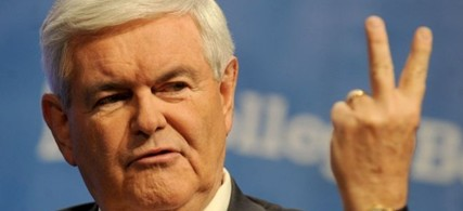 Gingrich mocked US policy on the Israeli-Palestinian conflict, calling it 'out of touch with reality.' (photo: Dennis Van Tine/ABACAUSA.COM)