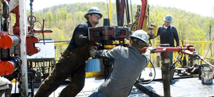 Hydraulic fracturing operation. (photo: AP)
