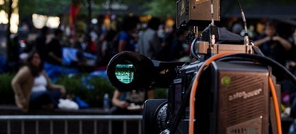 A video camera fixed on Occupy Wall Street protesters, 10/07/11. (photo: deshaunicus/flickr)