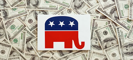 A candidates top donors say a lot about a campaign stand. (photo: Daily Beast)