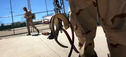 Ten years of indefinite detention at Guantanamo Bay could go on indefinitely. (photo: John Moore/Getty Images)