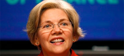 Elizabeth Warren leads Scott Brown in the campaign for US Senate. (photo: Kevin Lamarque/Reuters)