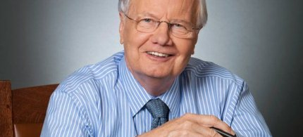 Portrait, Bill Moyers. (photo: Robin Holland)
