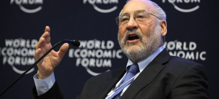 Joseph E. Stiglitz speaks at the World Economic Forum annual meeting, 01/26/11. (photo: Getty Images)