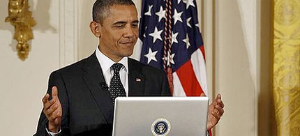 Barack Obama, the first truly digital president. (photo: Reuters)