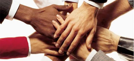 File photo: multicultural hand graphic. (photo: AP)
