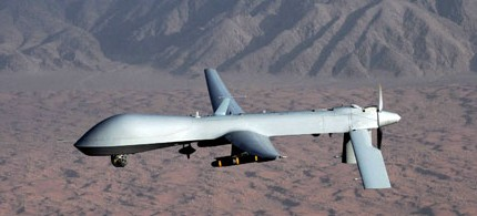An unmanned Predator drone of the type operating along the Afghanistan-Pakistan border. (photo: Rex Features/Sipa Press)