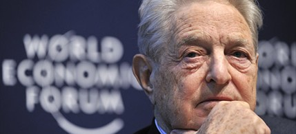 Hedge-fund pioneer George Soros at the 2011 Davos World Economic Forum, 05/17/11. (photo: Fabrice Coffrini/AFP/Getty Images)
