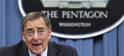 U.S. Defense Secretary Leon Panetta briefs the media in Washington. (photo: Reuters)