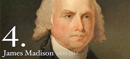 Portrait of James Madison, 'father of the Constitution' and fourth president of the United States. (photo: Consortium News)