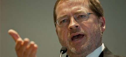 GOP rainmaker Grover Norquist speaks at the conservative Americans for Prosperity 'Defending the American Dream Summit' in Washington, 11/05/11. (photo: Nicholas Kamm/AFP/Getty Images)