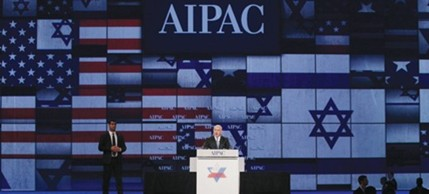 Israeli Prime Minister Benjamin Netanyahu address AIPAC at its annual conference, 05/23/11. (photo: Jason Reed/Reuters)