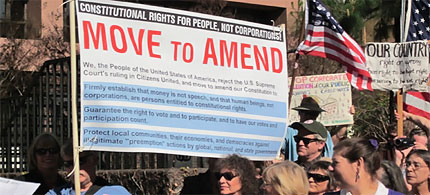 San Diegans rally against Citizens United decision. (photo: Zengers Newsmagazine)
