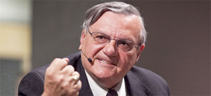 Sheriff Joe Arpaio is being courted by Republican candidates because his policies against illegal immigrants have spread like wildfire. (photo: ZUMA Press Newscom)