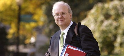 Is Karl Rove secretly supporting Mitt Romney? (photo: AP)