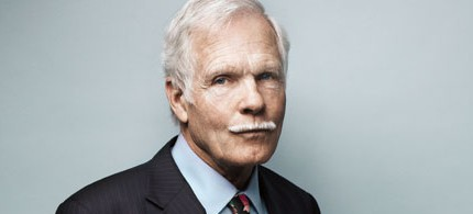 Ted Turner invented 24-hour cable news as we know it when he started CNN in 1980. (photo: Hollywood Reporter)