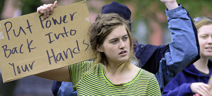 The occupy movement will have to figure out how it participates in the 2012 election season. (photo: Mark Collier)