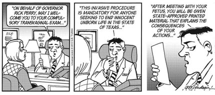 The banned Doonesbury Abortion Cartoon: Part 3. (image: Universal Uclick)