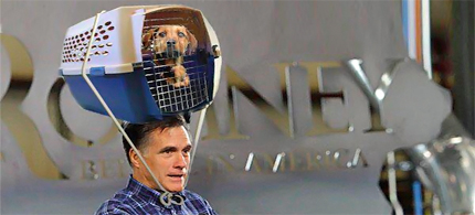 Mitt Romney invites parody. (photo: unknown)