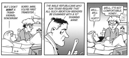 The banned Doonesbury Abortion Cartoon: Part 4. (image: Universal Uclick)
