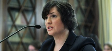 Sandra Fluke, a third-year law student at Georgetown University, testifies during a hearing before the House Democratic Steering and Policy Committee in Washington, DC, 02/23/12. (photo: Getty Images)