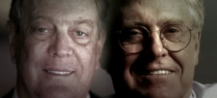 An image of the Koch Brothers, as seen in the trailer of 'Koch Brothers Exposed,' a film created by Robert Greenwald and his Brave New Foundation. (photo: Brave New Foundation)
