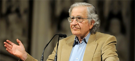 Noam Chomsky refers to the United States as a leading terrorist state. (photo: Christopher Guilfoil)