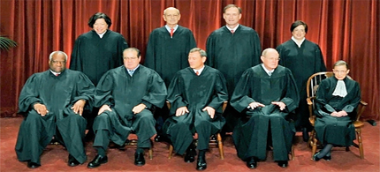 If the Supreme Court Justices dump the Affordable Care Act we should dump them. (photo: Tim Sloan/AFP/Getty Images)