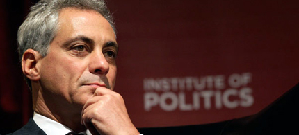 Chicago Mayor Rahm Emanuel is under fire for what many see as draconian measures he is taking to prepare for demonstrations against the NATO summit scheduled for next month. (photo: AP)