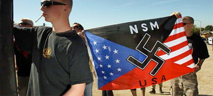 Neo-Nazis have been patrolling Sanford, FL, where Trayvon Martin was killed. (photo: Violent Extremism)