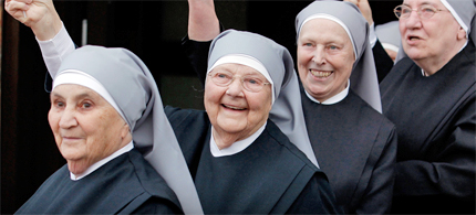 The Vatican has decided to crack down on American nuns. (photo: Jezebel)