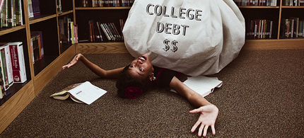 Student loan debt is now larger than credit card debt in the United States. (photo: Nastassia Davis)