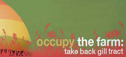 Occupy protesters are focusing on food supply. (image: Occupy the Farm)