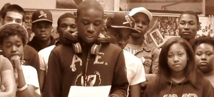 Students from Paul Robeson High School announce their participation n the May Day General Strike. (photo: Occupy.com)