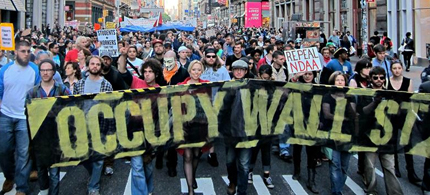 Occupy Wall Street's May Day march. (photo:occupy.com)
