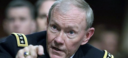 General Martin Dempsey announced the cancellation of a course that taught that Muslims are the enemy. (photo: AP)