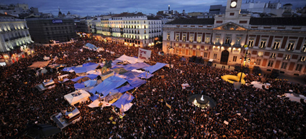 Authorities say they will not allow a repeat of last year's month-long sprawling encampment in Puerta del Sol. (photo: AFP)