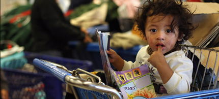 Child poverty has reached 25 percent in the USA. (photo: Colorlines)
