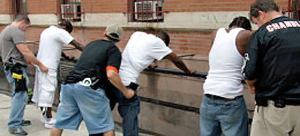 New York Police Department's stop-and-frisk program. (photo: Alamy)