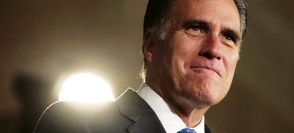 Mitt Romney at The Latino Coalition during the Annual Economic Summit, 05/23/12. (photo: Reuters)