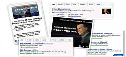 Obama, Romney Internet campaign ads. (photo: The Statehouse File)