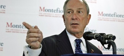 New York City Mayor Michael Bloomberg speaks to the media during a news conference. (photo: Reuters)