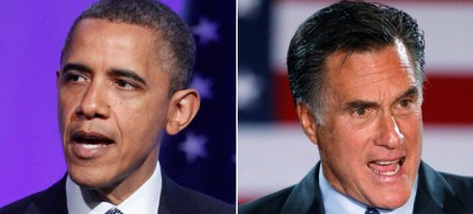 President Obama and Mitt Romney differ in their views on contraception. (photo: AP)