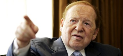 Sheldon Adelson has donated millions of dollars to opponents of President Obama. (photo: Reuters)