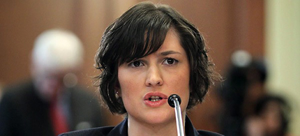 Sandra Fluke testifies before the House Democratic Steering and Policy Committee Feb. 23, 2012 in Washington. (photo: Alex Wong/Getty Images)