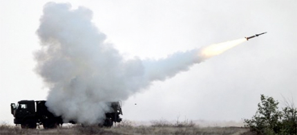 Soldiers launch a Pantsir-S1 surface-to-air missile as part of a joint CIS air-defense exercise at Ashuluk military range near the Caspian Sea. (photo: Rogulin Dmitry, ITAR-TASS/Landov)