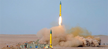 Iran test-fired medium range missiles capable of hitting US bases in the region or Israel. (photo: Mojtaba Heydari/EPA)