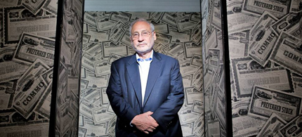 Joseph Stiglitz, an economist and professor at Columbia University. (photo: The Independent UK)