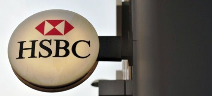 The logo on the front of a branch of HSBC. (photo: Getty Images)