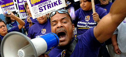 The Houston janitors strike is spreading. (photo: SEIU)